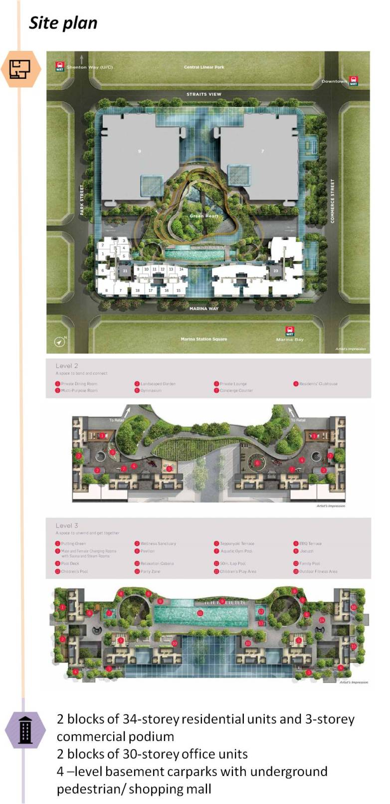 saleapartmentsingapore - marina one residences site plan