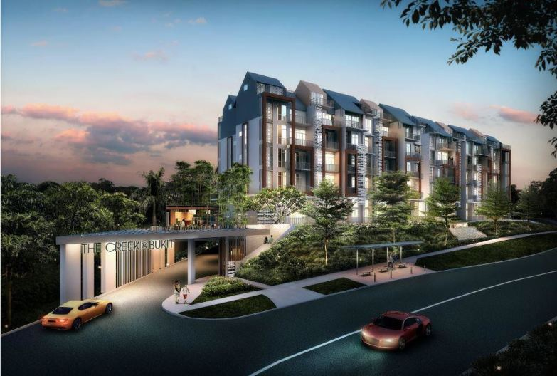 saleapartmentsingapore - the creek frontage