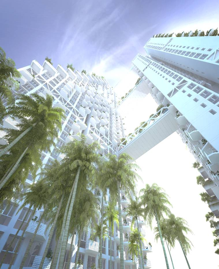 saleapartmentsingapore - Sky Habitat Ground to Sky view