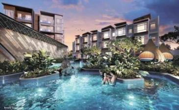 saleapartmentsingapore - waterfront night pool