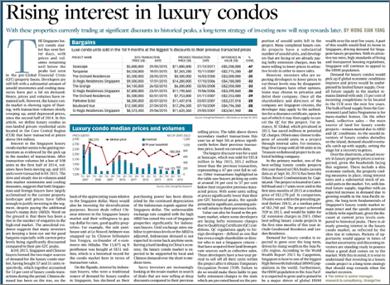 BT - rising interest in luxury condo