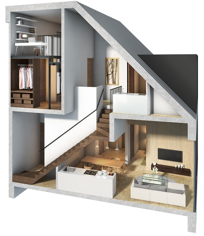 saleapartmentsingapore_bijou_Cross Dimmentional Attic View